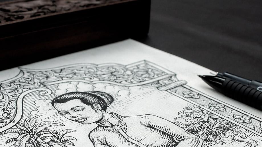 Makna-Sketch-Desain-Produk-Kaos-Khas-QimoJapara-Jepara-Indonesia