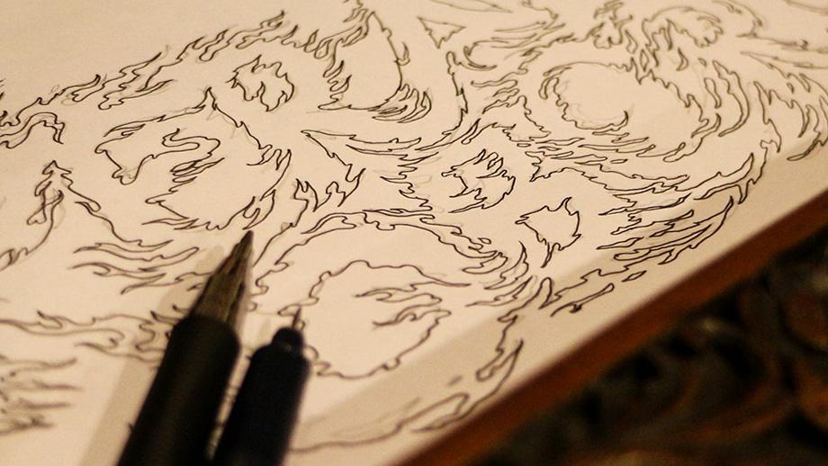 Sketch-desain-kaos-kebudayaan-tradisi-Perang-Obor--Jepara-QimoJapara-Indonesia