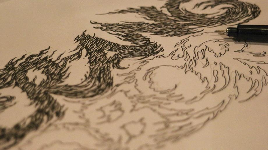 Sketch-lettering-typographi-desain-kaos-kebudayaan-tradisi-Perang-Obor--Jepara-QimoJapara-Indonesia