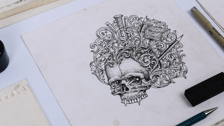 Skull-Illustrations-For-T-shirts-QimoJapara-Jepara